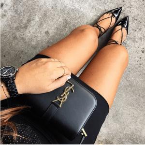 Aquazzura Black Patent Christy Flat Leather Ballerinas 1