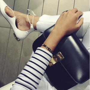 Aquazzura White Christy Flat Leather Ballerinas 1