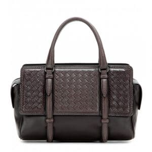 Bottega Veneta Brown Snakeskin Intrecciato Nappa Monaco Small Bag