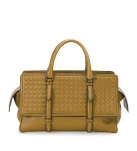 Bottega Veneta Camel Intrecciato Nappa Monaco Medium Bag