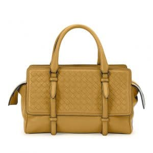 Bottega Veneta Camel Intrecciato Nappa Monaco Small Bag