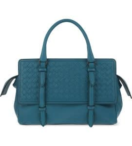 Bottega Veneta Canard Intrecciato Nappa Monaco Medium Bag