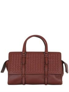 Bottega Veneta Russet Brown Intrecciato Nappa Monaco Medium Bag