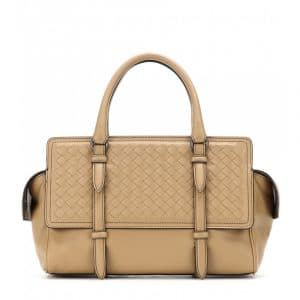 Bottega Veneta Tan Intrecciato Nappa Monaco Small Bag