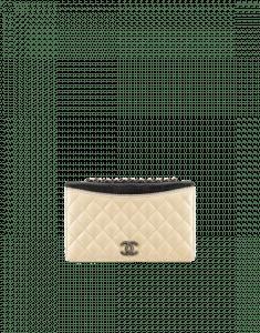Chanel Beige/Black Calfskin Ballerine Flap Small Bag