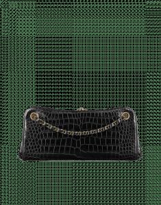 Chanel Black Alligator Shoulder Bag