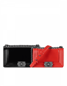 Chanel Black Medium and Red Small Original Clasp Boy Flap Bags