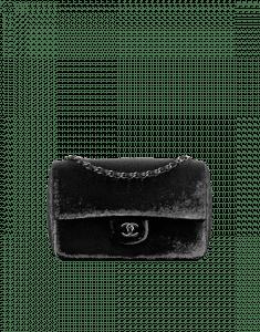 Chanel Black Sequin Embroidered Flap Bag