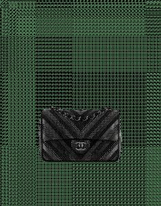 Chanel Black Strass Embellished Chevron Flap Bag