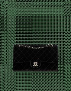 Chanel Black Velvet Classic Flap Medium Bag