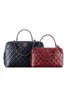 Chanel Blue Large and Red Medium Trendy CC Bowling Bags