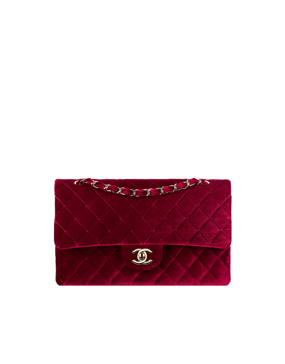 Classic Chanel Earrings Chanel Burgundy Velvet Classic