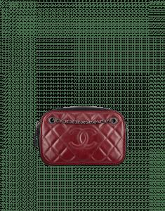 Chanel Burgundy/Black Ballerine Camera Case Bag