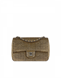 Chanel Gold Sequin Embroidered Flap Bag