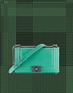 Chanel Mint Green Original Clasp Boy Flap Medium Bag
