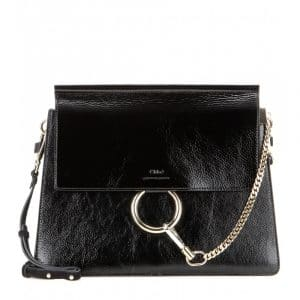 Chloe Black Patent Faye Medium Bag