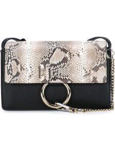 Chloe Black Python Faye Small Bag