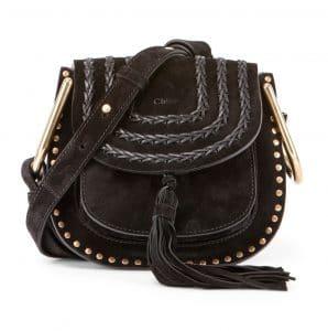 Chloe Black Suede Hudson Mini Bag