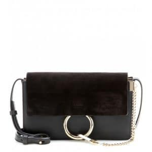 Chloe Black Suede/Leather Faye Small Bag