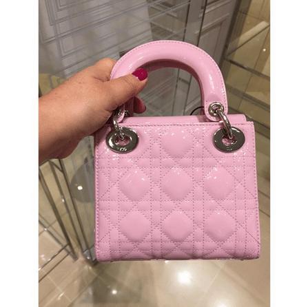 Dior Dior Pink Patent lady Dior Medium G7WtpnVO