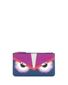 Fendi Blue/Pink Bag Bugs Clutch Bag