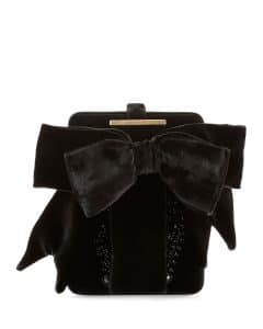 Givenchy Black Embroidered Show Line Clutch Bag
