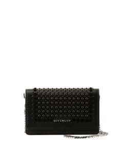 Givenchy Black Studded Pandora Wallet On Chain Bag