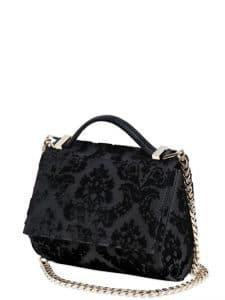 Givenchy Black Velvet Devore Pandora Box Mini Bag