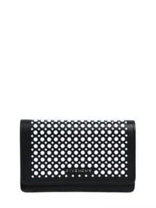 Givenchy Black/White Studded Pandora Wallet On Chain Bag