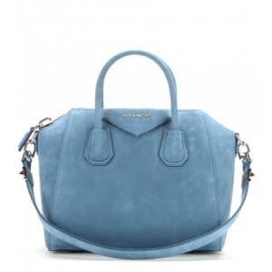 Givenchy Blue Suede Antigona Small Bag