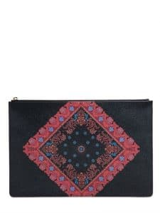 Givenchy Multicolor Bandana Print Coated Canvas Small Pouch Bag