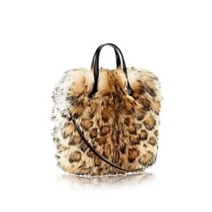 Louis Vuitton Animal Print Fluffy Sheepskin Sac Plat Bag