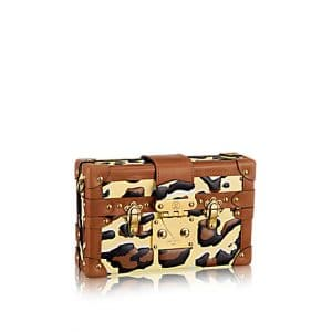 Louis Vuitton Animal Print Petite Malle Bag