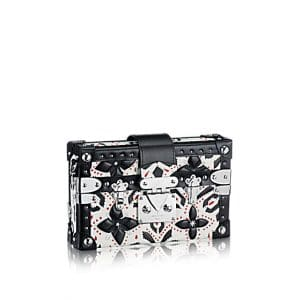 Louis Vuitton Black/White Graphic Print Petite Malle Bag