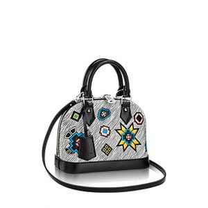 Louis Vuitton Blanc Gris Epi Azteque Alma BB Bag