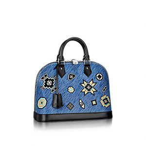 Louis Vuitton Blue Epi Azteque Alma PM Bag