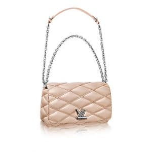 Louis Vuitton Champagne Malletage Go-14 PM Bag
