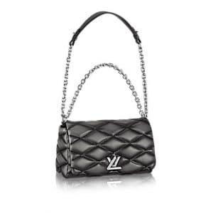 Louis Vuitton Charcoal Malletage Go-14 PM Bag