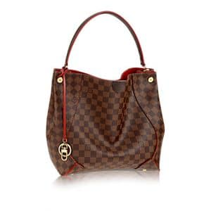 Louis Vuitton Cherry Caissa Damier Ebene Hobo Bag