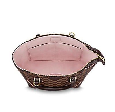 Rose Ballerine Damier Ebene Caïssa Tote Pm Bag Interior