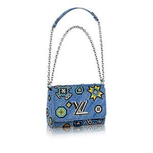 Louis Vuitton Denim Epi Azteque Twist MM Bag