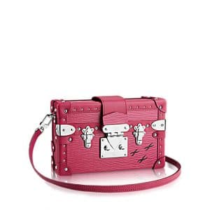 Louis Vuitton Fuchsia Epi Petite Malle Studs Bag