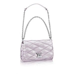 Louis Vuitton Lilas Nacre Malletage Go-14 PM Bag