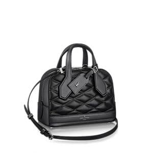Louis Vuitton Noir Dora Mini Malletage Bag