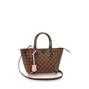 Louis Vuitton Rose Ballerine Caissa Damier Ebene Tote PM Bag
