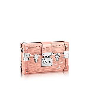 Louis Vuitton Rose Nacre Epi Petite Malle Studs Bag