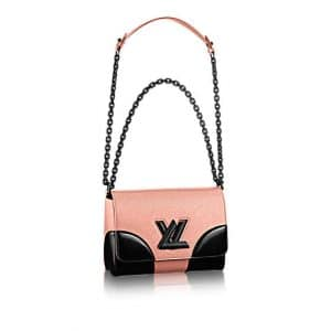 Louis Vuitton Rose Nacre Epi Twist MM Bag