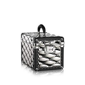Louis Vuitton Silver Metal Boîte Promenade Malletage GM Bag