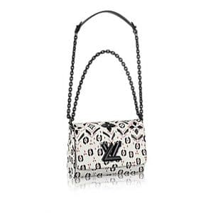 Louis Vuitton White/Black Graphic Print Twist MM Bag