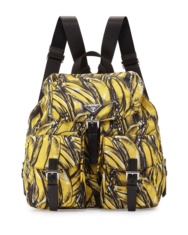 prada saffiano print butterfly clutch bag